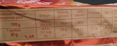 La pointe de brie - Informations nutritionnelles - fr