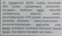Cookies Choco - Ingrediënten - nl