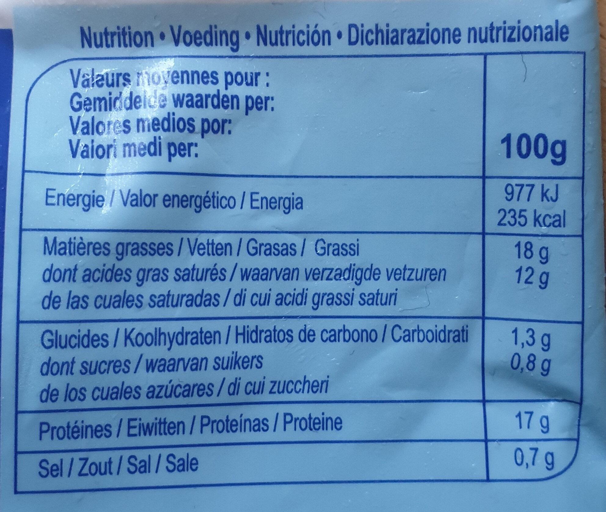 Mozzarella - Ingredientes - es
