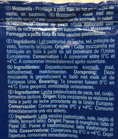 Mozzarella au lait de vache - Ingredienti