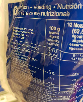 Mozzarella - Ingredients
