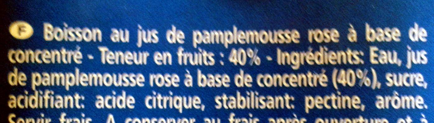 Pamplemousse Boisson - Ingrédients - fr