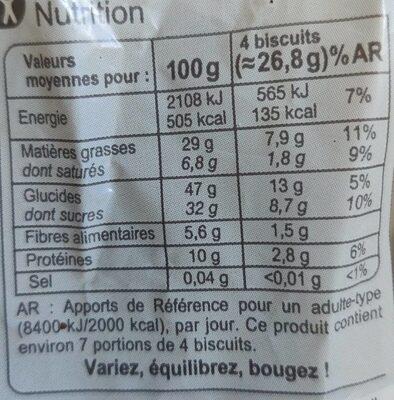 Déclic croustillant aux graines - Nutrition facts - fr