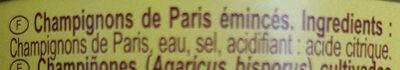 Champignons de Paris - Ingrediënten - fr