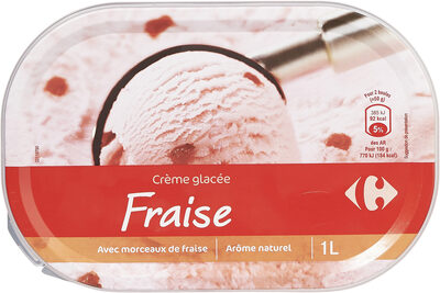 Crème glacée fraise - Produit - fr