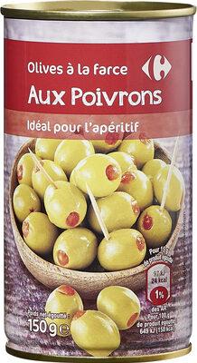 Olives à la farce aux POIVRONS - Produit - fr