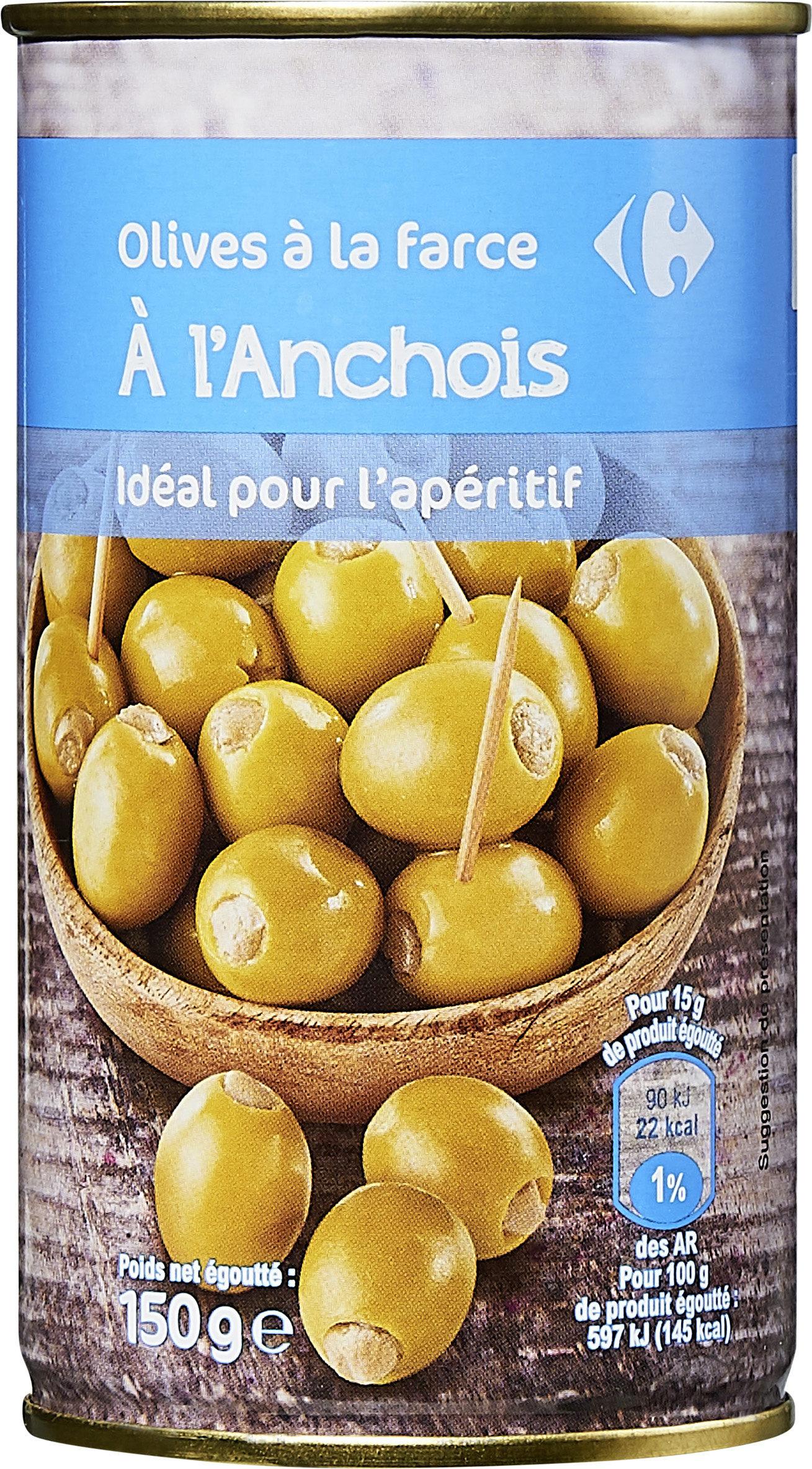 Olive à la farce a l'anchois - Produit - fr