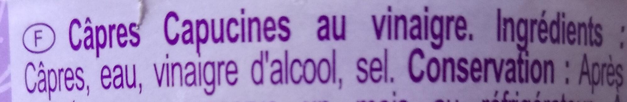 Câpres au Vinaigre - Ingredients - fr