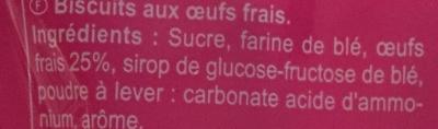 Les Boudoirs - Ingrédients