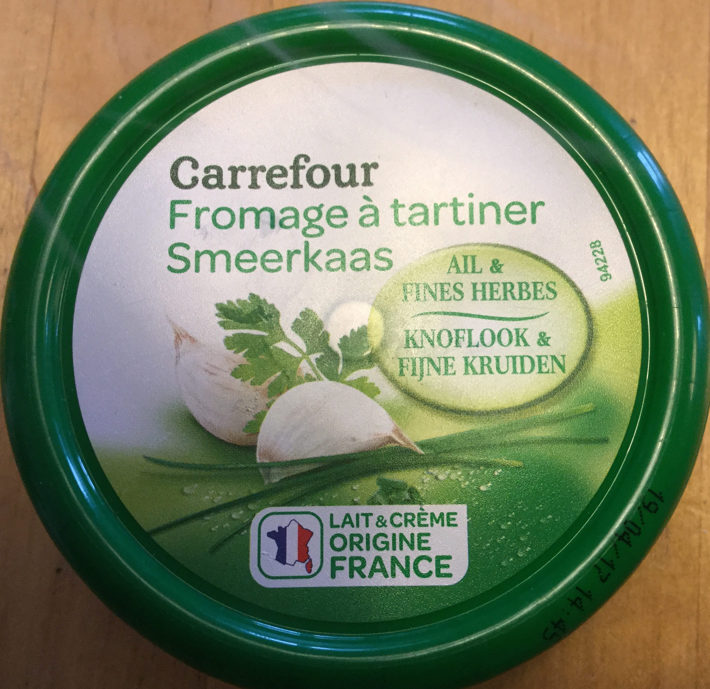 Fromage à tartiner Ail & fines herbes - Product - nl