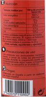 Aceituna relleno pimiento - Informació nutricional - es
