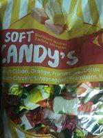 Bonbons tendres gout fruits, citron orange framboise cerise - Produit - fr