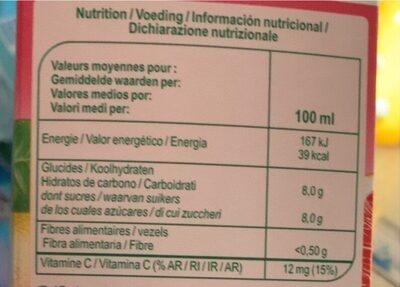 Jus de pamplemousse (à base de concentré) - Valori nutrizionali - fr