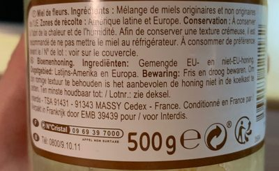 Miel de Fleurs / Bloemenhoning - Ingrediënten - fr