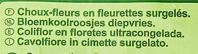 Choux-fleurs en fleurettes - Ingredienti - fr