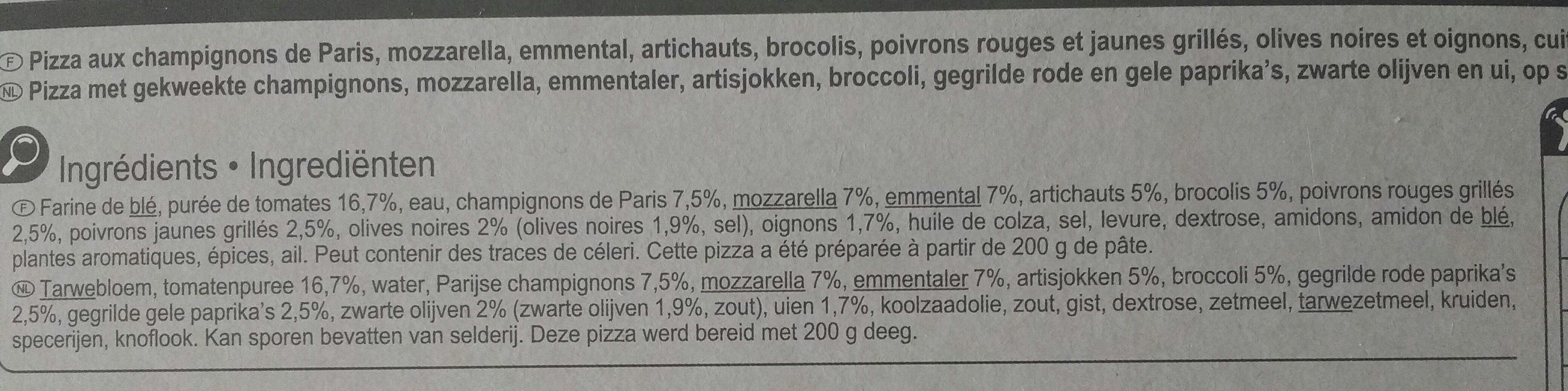 Pizza 4 stagioni - Ingrédients