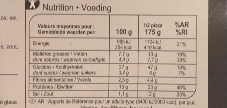 Pizza 4 Formaggi - Informations nutritionnelles - fr
