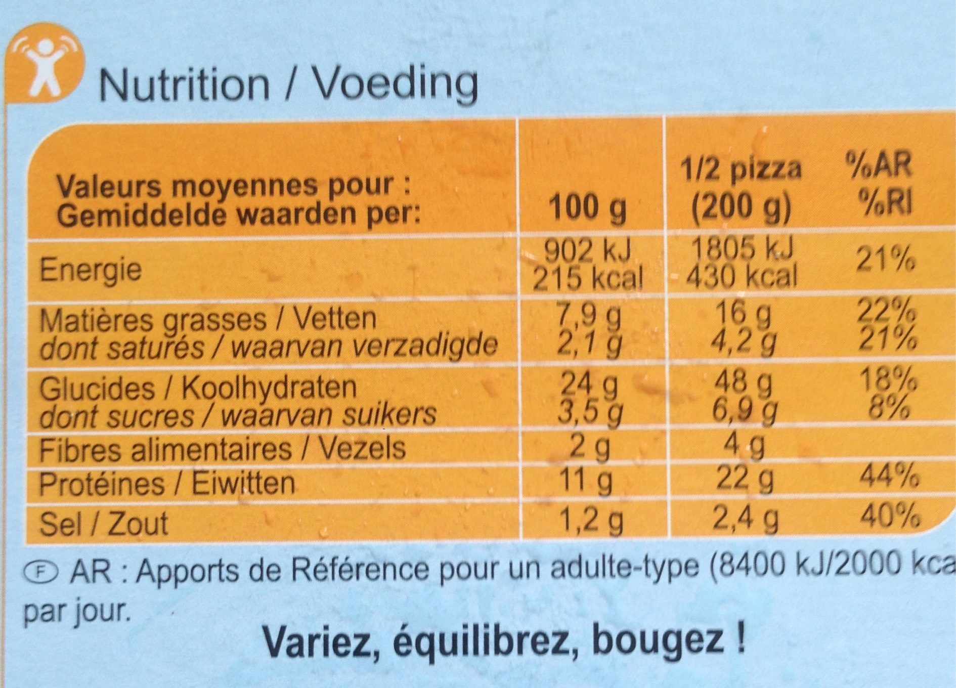 Pizza del Mare - Informations nutritionnelles - fr