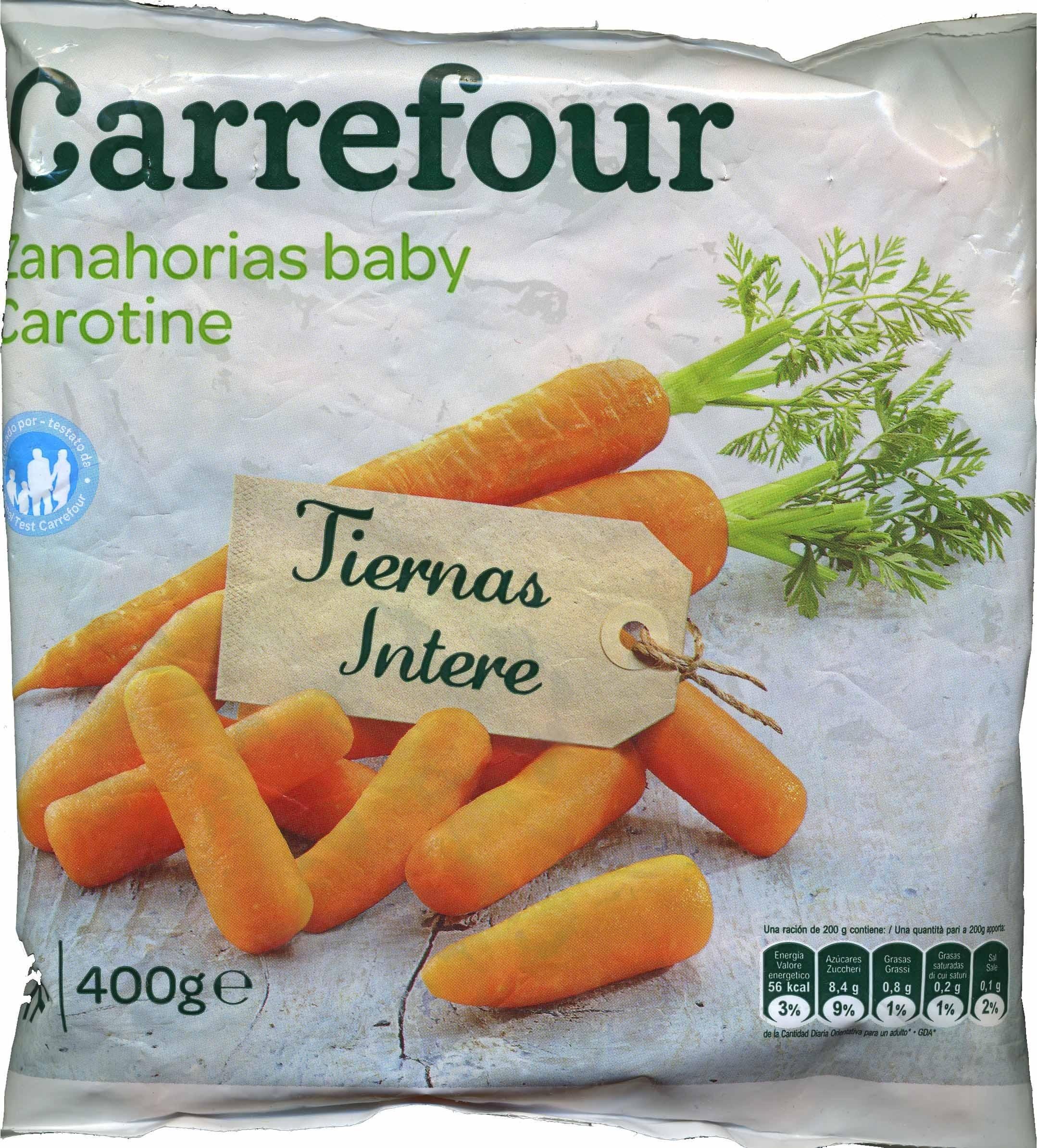 Zanahorias baby - Producto