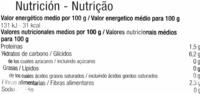 Haricots verts Coupés - Información nutricional - es