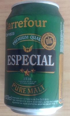 Cerveza especial - Producte