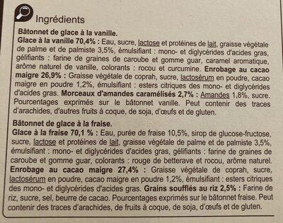 6 Vanille & 6 Fraise - Ingrédients - fr