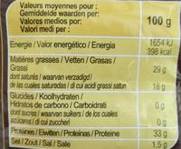 Grana Padano rallado - Informació nutricional