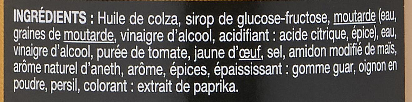 Sauce Hamburger. saxo - Ingredienti - fr