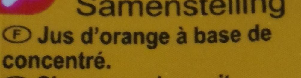 Jus d'orange à base de concentré - Ingredientes