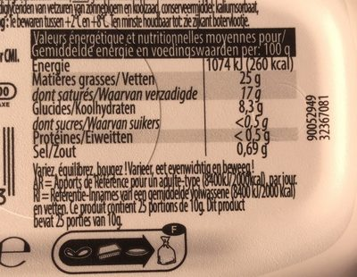 Doux 25% mg - Nutrition facts - fr