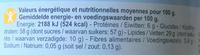 Pâtes à tartiner Noisette - Valori nutrizionali - fr