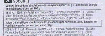 Noord-Hollandse Gouda Jeune (30,5% MG) - Voedingswaarden - fr