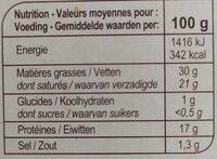 Le Petit Brie - 500 g - Voedingswaarden - fr