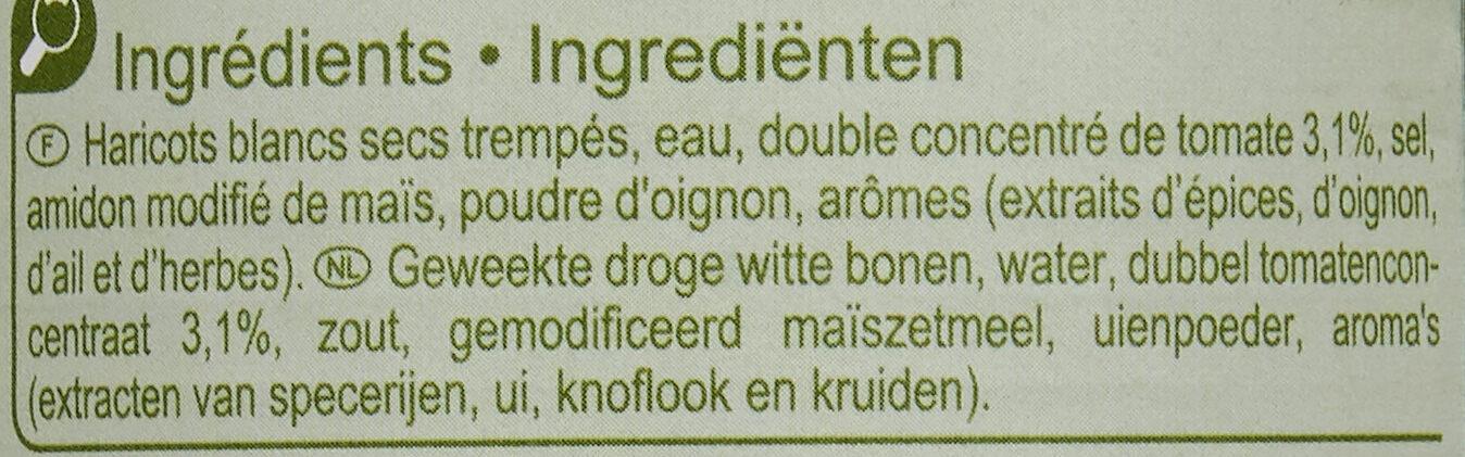 Haricots blancs à la tomate - Ingredients - fr