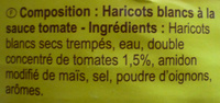 Haricots blancs à la tomate - Ingrediënten - fr