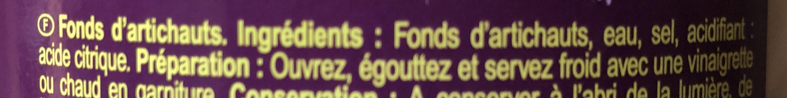 Artichauts Fonds - Ingredienti - fr