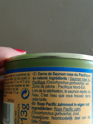 Darme de saumon rose du pacifique au naturel - Ingrediënten