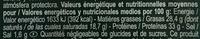 Parmiggiano reggiano copeaux - Informations nutritionnelles - fr