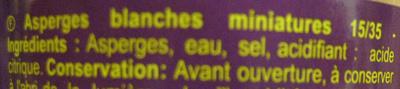 Asperges blanches - Ingrédients - fr