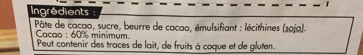 Mini tablette - Ingredienti - fr
