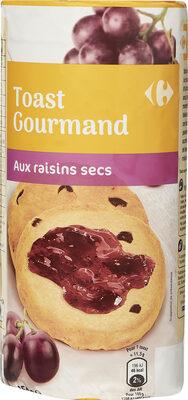 Toast gourmand aux raisins secs - Produit - fr