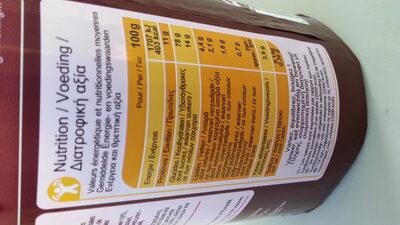 Toasts aux raisins - Informations nutritionnelles - fr
