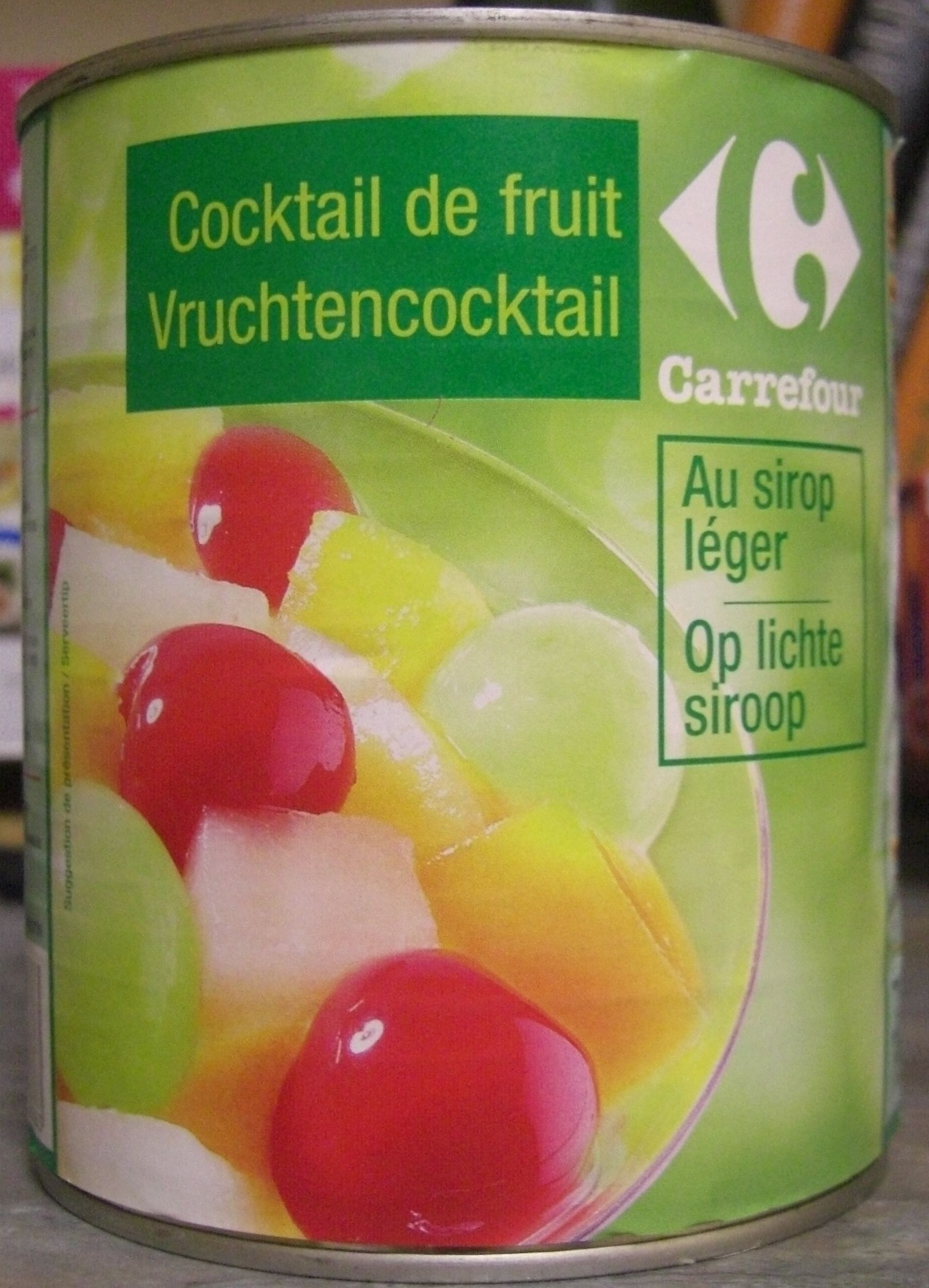Cocktail de fruits au sirop l ger carrefour 500 g for Cocktail de fruit