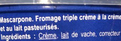 Mascarpone - Ingredientes