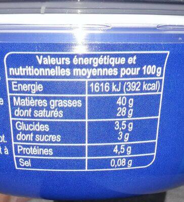 Mascarpone - Voedingswaarden
