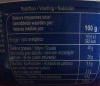 Mascarpone - Informations nutritionnelles - fr