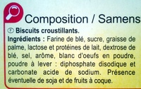 Langues de chat - Ingrediënten - fr