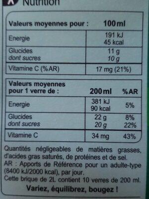 Pur jus Multifruits - Voedingswaarden - fr