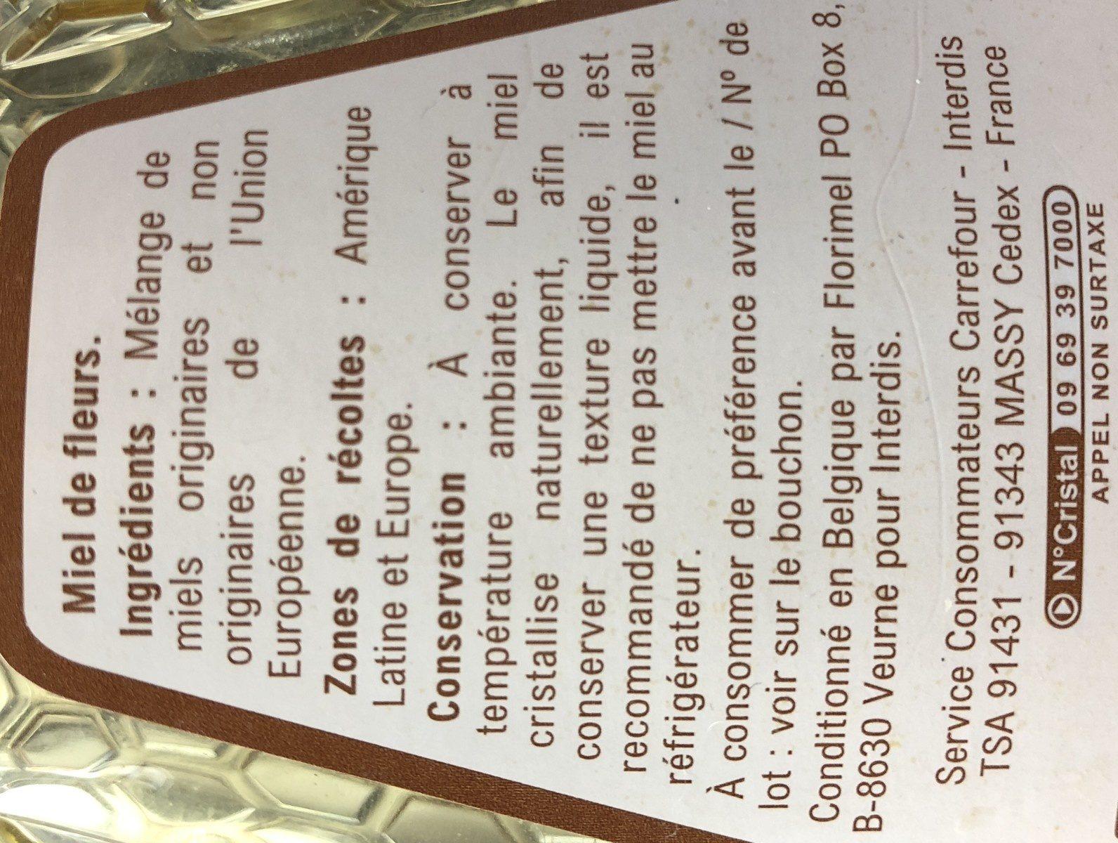 Miel de fleurs doux - Ingredientes