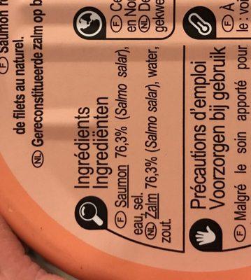 Saumon au naturel - Ingrediënten - fr